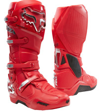 New Fox Racing Flame Red Instinct Prey Boots All Sizes Moto Dirt Offroad MX