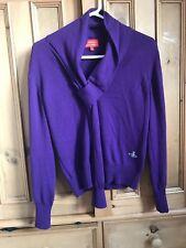 VIVIENNE WESTWOOD RED LABEL Jumper Purple Wool Knit Scarf Tie SIZE L RRP £295
