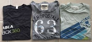Aeropostale NYC T-shirt Size M XBox limited Color Me L 3 Short Sleeve Tees lot