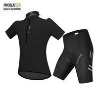Men Cycling Jersey&Shorts Set Short Sleeve Bike Padded Tights Riding Shirt M-2XL