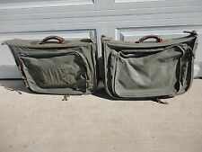 Two Vintage WWII / Korea  USMC Officers Flyer's Clothing Travel Bag Type B-4B