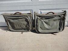 Two Vintage WWII / Korea  USMC Officers Flyer's Clothing Travel Bag Type B-4B