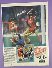 Umbro-umbroset Football Kits VINTAGE MAGAZINE PUB-Dalglish, LIVERPOOL FC