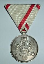 MEDALS-ORIGINAL OLD MONTENEGRO SILVER BRAVERY MEDAL 1800'S