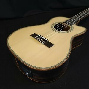 Kala KA-SSEBY-B-CE Solid Top Sides Acoustic Electric EQ Baritone Ukulele