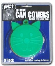 KOLLER CRAFT CAT CAN COVER CAP LOT OF THREE PER PURCHASE FOOD. FREE SHIP TO USA