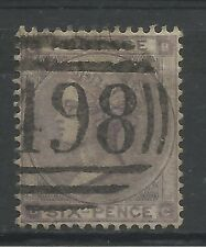 1862/4 Sg 85, 6d Lilac with Hairlines (BC) Plate 4, Fine used.