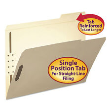Smead Folder Two Fasteners 1/3 Cut Third Position Top Tab Letter Manila 50/Box