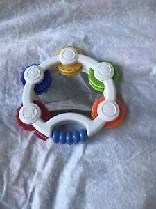 2013 Fisher Price Shake 'n Beats Tambourine Rattle Toy