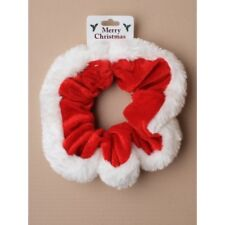 Gorgeous Red & White Christmas Scrunchies Bobble Trusted UK Seller,
