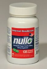 135 pc Nullo Internal Deodorant Caplets Oral Colostomy Ostomy Pouch Tablets Odor