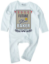 """Bake Off Romper """"Future Star Baker"""" Baby Romper Suit Baking GBBO Funny Clothes"""