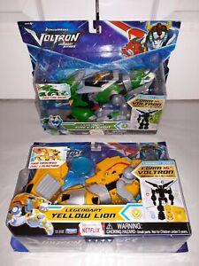 Voltron Legendary Green + Yellow Lion Legendary Series Playmates 2017 NEW RARE!