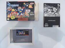 Super Bomberman SNES Super Nintendo **Complete** **CIB**