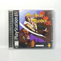 Battle Arena Toshinden Sony Playstation PS1  Complete Jewel Case Black Label