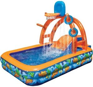 NEW - Wild Waves Water Park w/ Sprinkling Arch & Basketball Hoop by Banzai