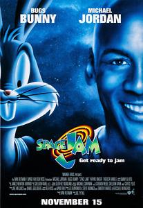 1996 Space Jam Movie Poster Print > Michael Jordan > Bugs Bunny 🐰🏀🍿