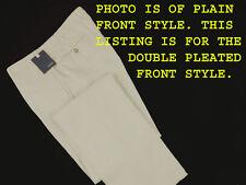 NEW! Incotex Chino Lino Linen & Cotton Pants (Slacks)! 32 (30) *Double Pleated*