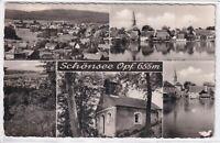 Ansichtskarte Schönsee/Oberpfalz - Kapelle/Teichpartie/Ortsansicht -schwarz/weiß