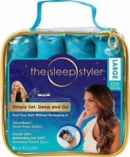 """The Sleep Styler Large Absorbent heat-free rollers 8 - 6"""" Rollers - Large - NEW"""