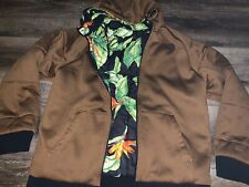 The North Face ~ Men's Puffy Reversible Coal Brown Tropical Hooded EUC ~ L