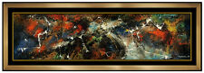 Leonardo Nierman Original Painting Oil On Board Large Cosmic Abstract Signed Art