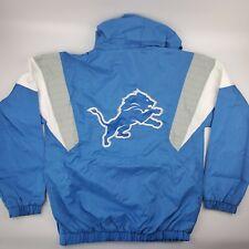 Detroit Lions NFL Starter Jacket Half Zip Pullover Throwback Windbreaker