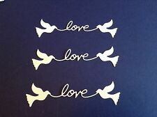 12 x Love Doves die cuts **FREE UK POSTAGE**