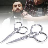 Ciseaux De Coupe Barbe En Acier Inoxydable Moustache Découpage Cheveux Ciseaux