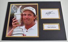 Tom Lehman SIGNED autograph 16x12 photo display Golf AFTAL & COA