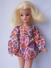 Sindy muñeca Ropa Vestido Mangas de hojaldre. 1972 Pedigree ninguna muñeca