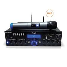 Pyle PDA8BUWM Home Theater Amplifier Bluetooth Stereo Receiver, UHF Wireless Mic