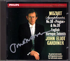 John Eliot GARDINER Signed MOZART Symphony No.38 Prague 39 PHILIPS CD Sinfonien
