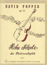 David Popper: alta escuela del violoncellspiels, partituras 73, cuaderno 4