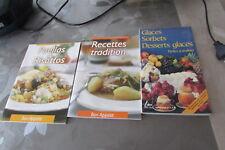 LOT DE 4 LIVRES RECETTES paella recettes traditions glaces sorbets