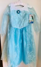 NEW Disney Frozen Elsa Deluxe Blue Dress Costume Girls Medium 7-8 NWT Exclusive
