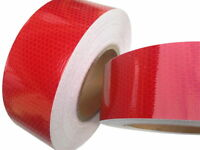 HI VIZ INTENSITY GRADE RED REFLECTIVE TAPE 50MM X 2.5M