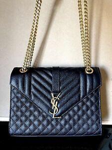Authentic YSL Saint Laurent Medium Envelope leather shoulder bag