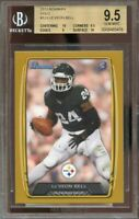 2013 bowman gold #123 LE'VEON BELL steelers rookie card BGS 9.5 (10 9.5 9 10)