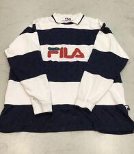 Vintage Fila Rugby Striped Shirt Size L/XL