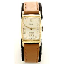 Croton (Swiss) 17-Jewel Yellow Gold-Filled Man's Wrist Watch