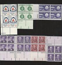 Scott # 1161, 1167, 1168, 1170, 1171, 1172, 1173 Plate Blocks MNH OG