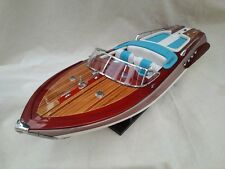 "Cedar Wood Riva Aquarama Lamborghini Special 24"" White-Blue High Quality Boat"