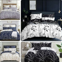 TREE Reversible Double/Queen/King/Super King Size Duvet/Doona/Quilt Cover Set
