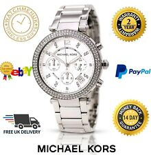 BRAND NEW GENUINE MICHAEL KORS MK5353 SILVER 'SWAROVSKI' PARKER WOMEN'S WATCH