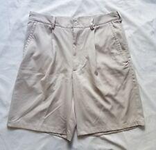 Nike Golf Mens Beige Pleated Athletic Golf Shorts Size 32