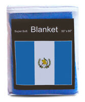 "Guatemala Flag Fleece Blanket 50""x60"" Guatemalan Travel Throw Cover Cobija *NEW*"