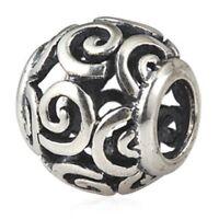 S5797 Sterling Silver Mom Barrel Bead for European Charm Bracelet