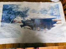 Large Counted Cross Stitch Unframed Picture Winter  64x38 cm