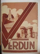 WW 1 Verdun old 1930 s.tourist map with photos